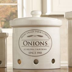 The onion canister holds about 3-5 pounds well.  The potato canister holds 5 pounds comfortably.  Not sure if it would hold 10...