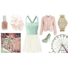 Gorgeous blush pink & mint outfit
