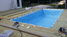 Hanging a rectangular Intex Ultra Frame Pool directly from the pool deck - Page 8 Building A Swimming Pool, Swimming Pool Decks, Lap Pools, Indoor Pools, Homemade Swimming Pools, Natural Swimming Pools, Natural Pools, Backyard Pool Designs, Pool Landscaping