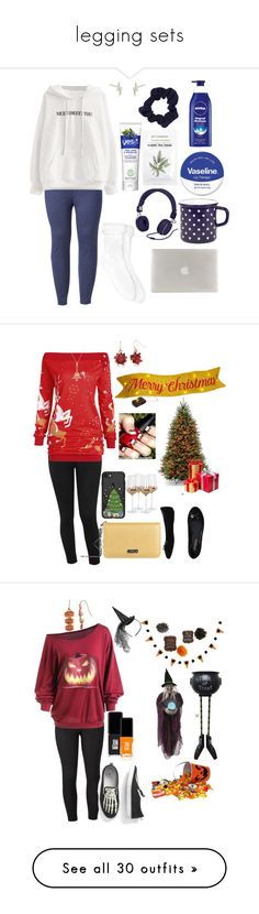 """""""legging sets"""" by skylovessave ❤ liked on Polyvore featuring LC Lauren Conrad, Xhilaration, Urbanears, Tucano, Therapy, Yes To, Kris Nations, plus size clothing, M&Co and Lencca"""