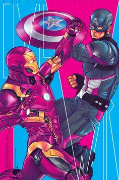 """Marvel's """"Captain America: Civil War Tribute"""" on Behance"""