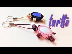 Macrame Turtle key chain tutorial - Simple handmade step by step guidance - Thắt móc khóa con rùa - YouTube