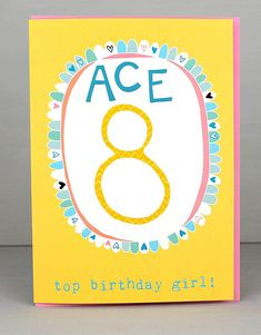 NEW 8th Birthday Cards For Girls by Molly Mae. I love this new range. You can also find the boys age range at Card Crush.
