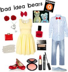 """""""avenue q - bad idea bears"""" by sg822 ❤ liked on Polyvore"""
