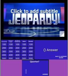 This Is The Best Jeopardy Powerpoint On The Internet Fully