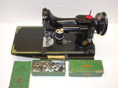 Singer Featherweight 221 Singer Black 1952 by PriorMemories, $405.00