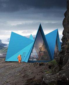 """- db - design bunker (@designbunker) on Instagram: """"Transportable trekking cabin by @utopiaarkitekter Go to  @designbunker for more of what you love!…"""""""