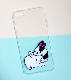 Hand painted Rabbits phone case - iPhone 6 case clear- iPhone 6 case - iPhone 6s case - Pokemon Phone Case - Samsung Galaxy S7 Edge Case sold by Mint Corner. Shop more products from Mint Corner on Storenvy, the home of independent small businesses all over the world.