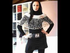 MAGLIA: COPRISPALLE - MANTELLINA ELEGANTE AI FERRI 2 di 2 Crochet Shawls And Wraps, Bolero, Crochet Videos, Turtle Neck, Youtube, Knitting, Sweaters, Women, Style