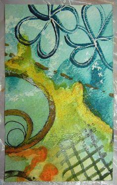 Working from a random sketch to create abstract art. Ellen Lindner, AdventureQuilter.com/blog