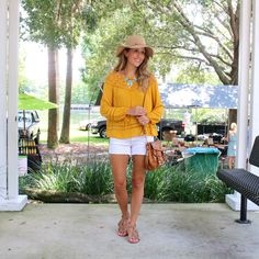 J's Everyday Fashion provides outfit ideas, budget fashion, shopping on a budget, personal style inspiration, and tips on what to wear. Spring Summer Fashion, Spring Outfits, Js Everyday Fashion, Mustard Top, Turquoise Fashion, Budget Fashion, Work Fashion, Polyvore Outfits, Casual Looks