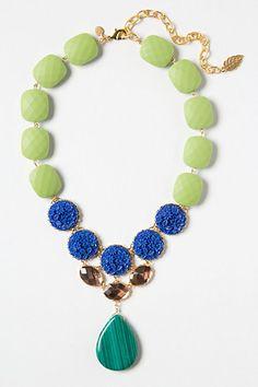 Amborella Necklace -love the color combination especially the malachite - Anthropologie.com