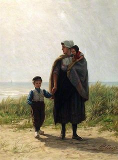 Dutch Peasants (Philip Lodewijk Jacob Frederik Sadee).