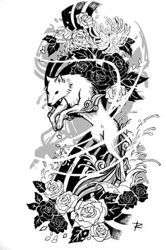 amaterasu_tattoo_sketch_by_renefelem-d7ka208.jpg (900×1350)