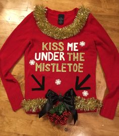 Naughty Christmas Sweater, Ugly Christmas Sweater Women, Christmas Sweaters, Santa Suits, Ugly Sweater Party, Christmas Makeup, Christmas Ideas, Holiday Decorations, Holiday Ideas