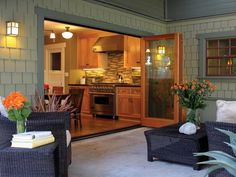 LaCantina Doors Exterior Wood Folding Doors are suitable for contemporary or traditional design. Let your all wood LaCantina Doors be the highlight of any space. Sliding Wall, Sliding Glass Door, Glass Doors, Glass Walls, Door Design, House Design, Glass Wall Systems, Accordion Doors, Folding Doors