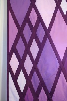 quilt, purple, diamond, etsy, modern, monochromatic