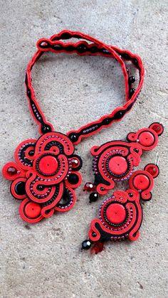 """Niepowtarzalna nietuzinkowa biżuteria sutasz-moje życie moja miłość: """"luck of the devil"""" wisior sutasz soutache"""
