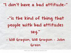 Will Grayson, Will Grayson Quote