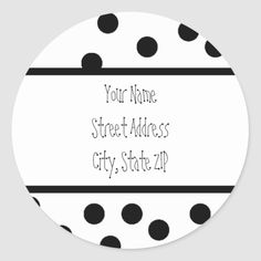 Whether you write them by hand or print them at home, check out our selection of Round Address Labels return address labels. Return Address Stickers, Return Address Labels, Custom Address Labels, Addressing Envelopes, Polka Dot, Writing, Personalized Address Labels, Polka Dots, Dot Patterns