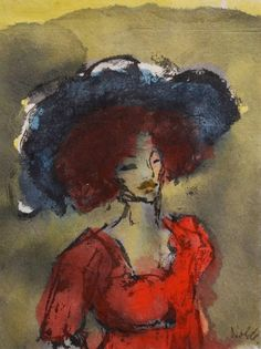Emil Nolde - Woman with Hat