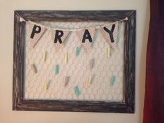 Prayer board made by my awesome Roomie for our dorm!! Super cute decor for any…