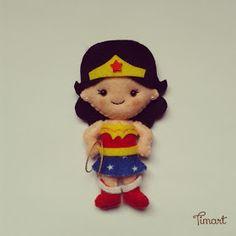 Eu Amo Artesanato: Boneca Mulher Maravilha
