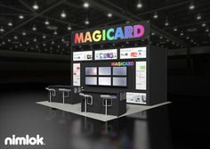 Nimlok creates portable modular trade show exhibits and displays. For Magicard, we showcased their services with a 20x20' trade show booth.