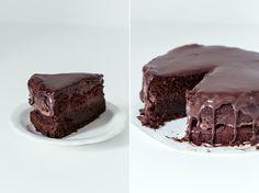 A wonderful recipe of gorgeous flourless chocolate layer cake ~ via this blog, High Heat Kitchen