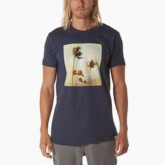 Need some relaxing? There's nothing more relaxing than palm trees. Shop for the Reef Trade Tee with it's palm tree front graphic from www.reef.com.