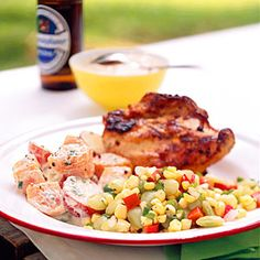 Grilled Chicken with White Barbecue Sauce | MyRecipes.com
