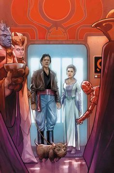 Han and Leia from one of the Star Wars comics Star Wars Comic Books, Star Wars Comics, Star Wars Rpg, Comic Books Art, Saga, Ben Oliver, Phil Noto, Star Wars Canon, Han And Leia
