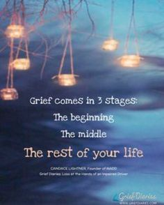 Grief comes in 3 stages