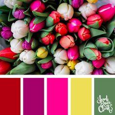 Bright flowers color scheme