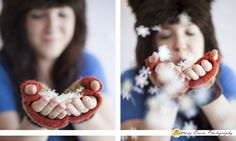Winter mini session from Indianapolis photographer   Fake snow in hands portrait   (c) Brittany Erwin Photography