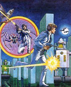 Night Stalker (1982). Intellivision game cover art.