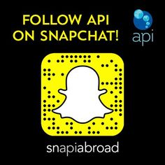 While you're creeping on your friends and rando celebs why not give us a follow on #snapchat #ispyAPI #snAPIabroad