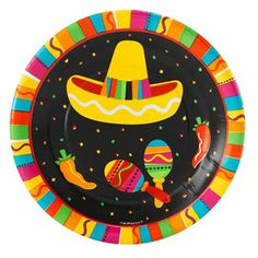 FIESTA GRANDE MEXICAN FUN PARTY MEXICO TABLEWARE PLATES NAPKINS TABLECOVERS