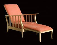 Superb Arts & Crafts Morris Chair Folding Art Deco Reclining Armchair Lounger Mission Bleached Wood
