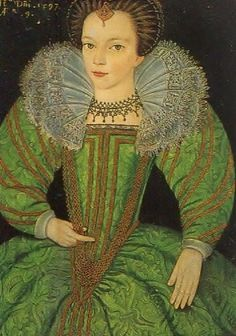 1590ish - Portrait of Jane Palmer (b.1564) at Dorney Court