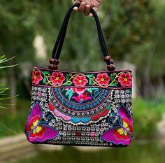 99a8b3f5dd3 Vintage Embroidery Women s Handbag. Canvas TotesCanvas Tote BagsCanvas  HandbagsTote HandbagsEthnicEmbroidered ...