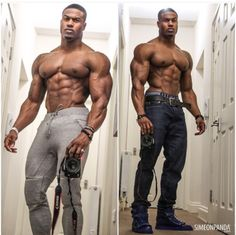 Double dose of Simeon Panda....the body on this man is WOW!!!!