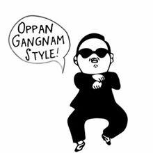 Daily Jokes: Oppan gangnam Style Cartoon GIf