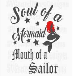 Soul of a mermaid mouth of a sailor anchor mermaid lover gift SVG dxf cutting files,sailor gift,cutting file cricut silhouette scan and cut 3d Templates, Bow Template, Gifts For Sailors, Scan And Cut, Gift For Lover, Silhouette Cameo, Cutting Files, Baby Shower Gifts, Mermaid