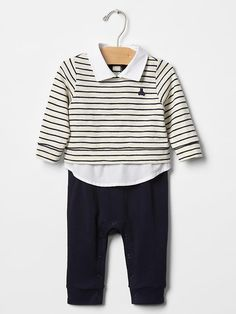 We are loving this striped layered outfit for your little one. Perfect for Easter!