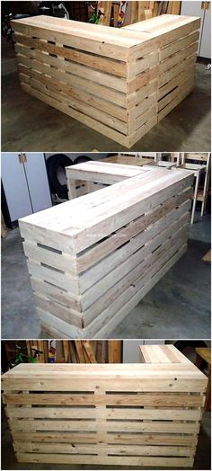 practical pallet wall. Its appearance gives an aesthetic