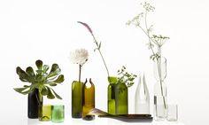 Studio Tord Boontje & Emma Woffenden ecodesign / recycle design / bottles / DIY / reuse / ecological / vases / green / flowers