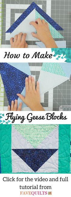 Learn how to make flying geese blocks with our informative page!