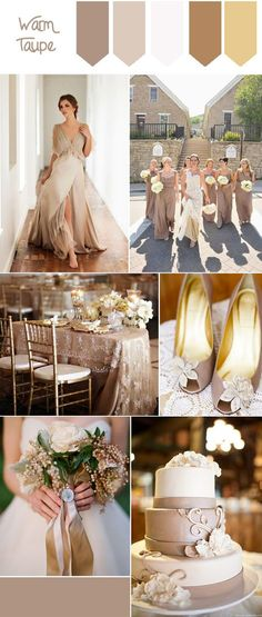 Top 10 Fall Wedding Colors from Pantone for 2016 : warm taupe pantone fall wedding color for 2016 Taupe Wedding, Neutral Wedding Colors, Dream Wedding, Elegant Wedding, Wedding Trends, Wedding Designs, Wedding Ideas, Wedding Stuff, Fall Wedding Dresses