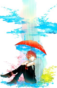 Akashi being in his own world while raining? Reminds me of me...At leats no scissors in this :D | Akashi Seijuro | #KnB